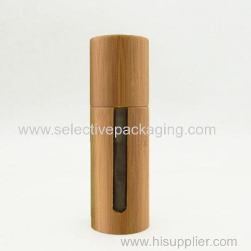 50ml bamboo glass cosmetic lotion container
