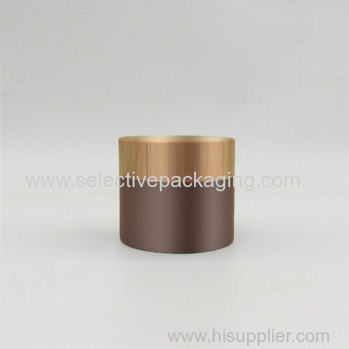20g brown coating bamboo plastic cosmetic cream container