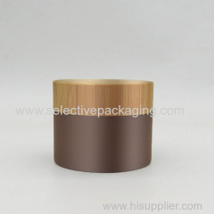 100ml bamboo cream jar coating process surface