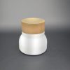 50g opal glass cream jar with bamboo top