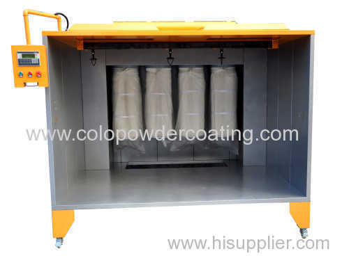 open powder spray booth