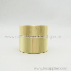 30g luxury white bamboo glass cream jar