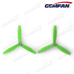 6040 bullnose glass fiber nylon propeller 3 blades for drone remote control aircraft