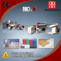 PE foam cushion extruder