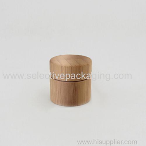 10g bamboo glass cream jar