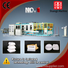 fast food box auto vacuum forming machine