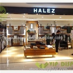 China Manufacture Customized Luxury Commercial Shop Fitting Garment Display Stand Showcase With Good Price