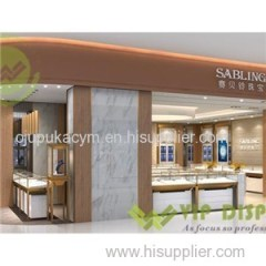 Luxury Stainless Steel Jewellery Display Showcase Supply To The Retail Shop Of Famous Brand In The World