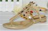 Rhinestone clip on flat women dress sandals