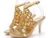 Stiletto heel single sole women dress sandals