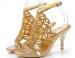 Stiletto heel single sole ladies dress sandals