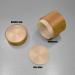 150g bamboo PP plastic cosmetic jar for cream