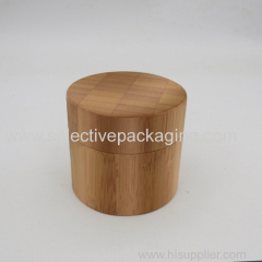 empty 100g wooden/bamboo PP plastic cream jar