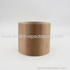 150g bamboo PP plastic cosmetic jar for cream