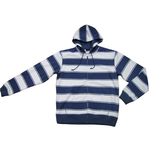 Mens Striped Hoody Top