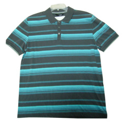 Mens Yarn Dyed Striped Polo