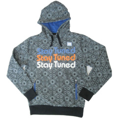 Mens Overall Printed Hoody