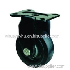 Heavy Duty Industrial Mute Alumnium Core Elastic Rubber Caster Serial NO.J51