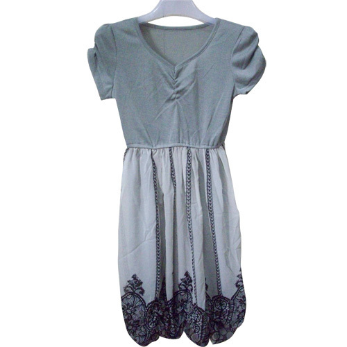 Ladies Short Sleeve Long Dress