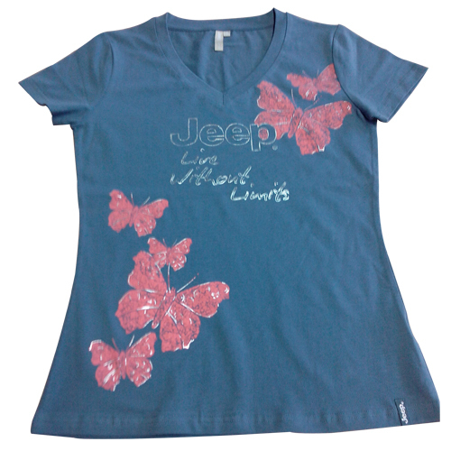 Ladies V-Neck Short Sleeve Tee