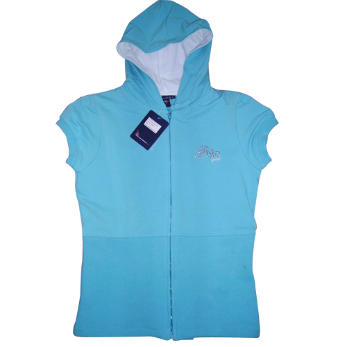 Ladies Sleeveless Hooded Top