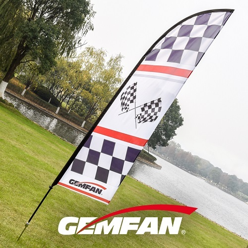 strong polyester fabric printed Racing Air FPV Flag 340cm
