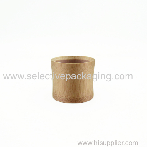 ECO-friend small natural bamboo cup cosmetic cream sample packaging