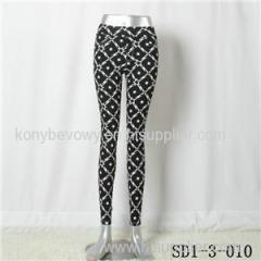 Women Fashion Sexy Woven Stars Printing High-waist Close-fitting Leggings