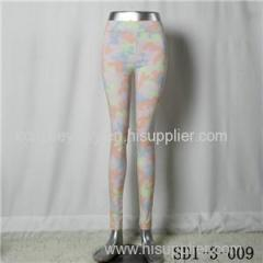 Women Fashion Sexy Woven Camouflage Printing Of Tall Waist Close-fitting Leggings