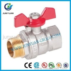 High Quality Brass Ball Valve with Butterfly Handle