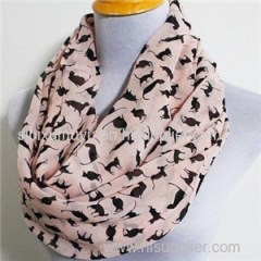 Custom Design Logo Printed Infinity Scarves