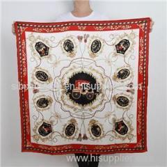 Designer Custom Logo 90*90cm Silk Scarf High Quality Digital Printed Silk Shawl
