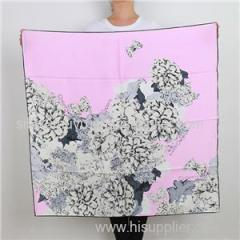 Digital Print High Quality Silk Scarf Custom Made Square Scarf