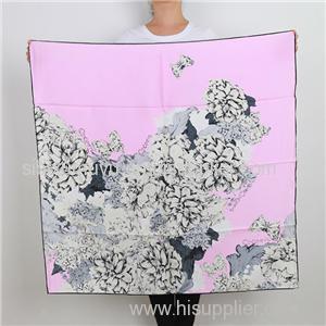 Digital Print High Quality Silk Scarf Custom Made Square Scarf