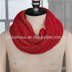 Custom Design Knitted Faux Cashmere Wool Acrylic Infinity Scarf