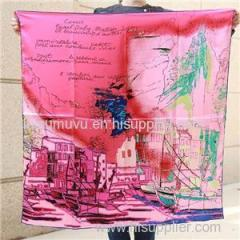Factory Directly Printed Square Scarves 90*90cm Silk Bandana
