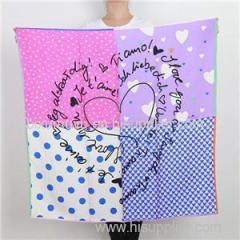 Customize Logo Free Sample Scarves Dot Love Heart Fashion Scarf