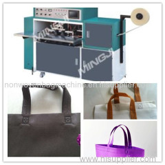 Ultra-sônico alça de vedação single side nonwoven saco fazendo a máquina