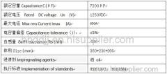 DC Filter Storage Capacitor