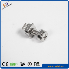 zinc plated M6 caged nuts
