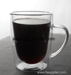 Heat Resistant Borosilicate Glass Coffee Mug
