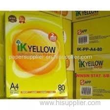 Ik Yellow A4 Copy Paper 80gsm 75gsm 70gsm