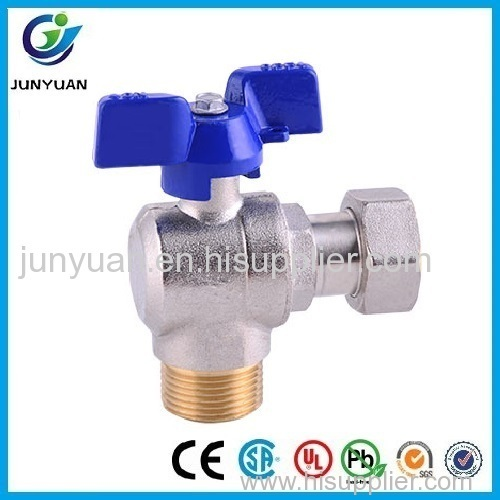 Angle Type Water Meter Ball Valve with Male/Free Nut