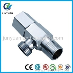 Hexagon chrome plated brass angle valve