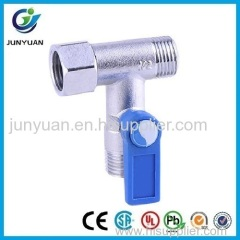 TEE TYPE BRASS BALL VALVE