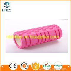 Single or double color high density round eva yoga roller 33*14 cm foam roller with design