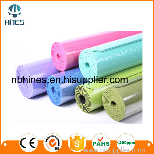 high quality custom print TPE yoga mat with designs
