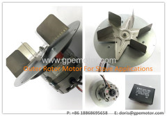 IP44 AC Hot Air Exhaust Radial Fan Blower With Internal External Rotor Motor For Pellet Stove Boiler Heater