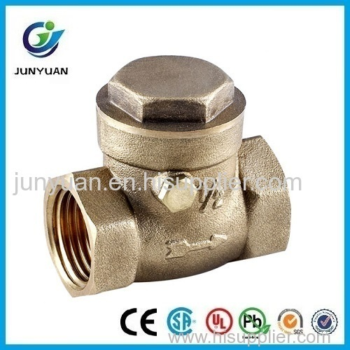 horizontal type brass tilting disc check valve