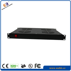1U fan unit with 4 fans and switch